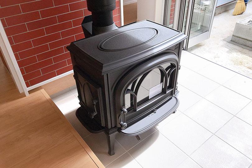 リビングにある暖炉
