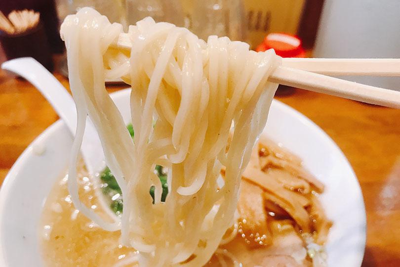 細麺の潮ラーメン
