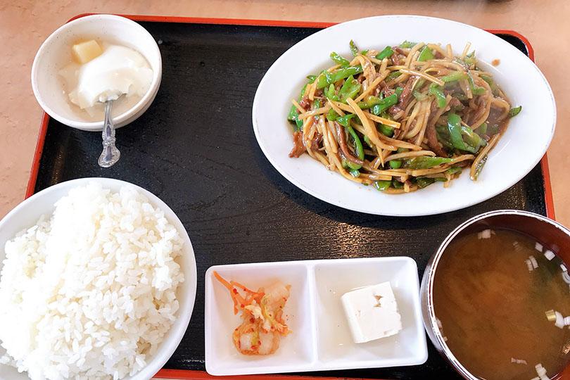 牛肉とピーマン炒めセット