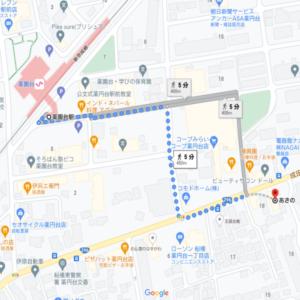とんかつあさの 最寄駅からの地図