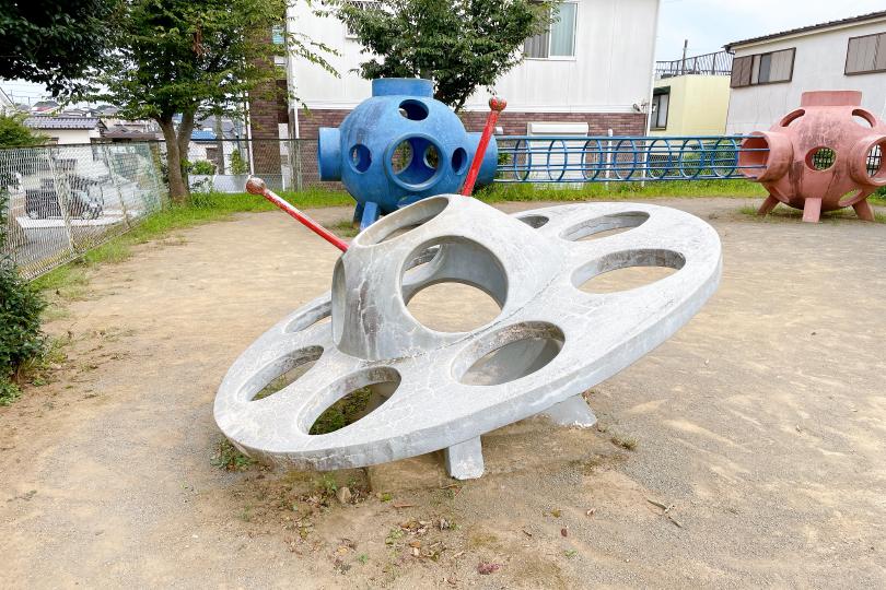 UFO型の遊具の写真