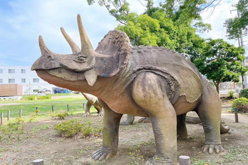 トリケラトプスのオブジェの写真