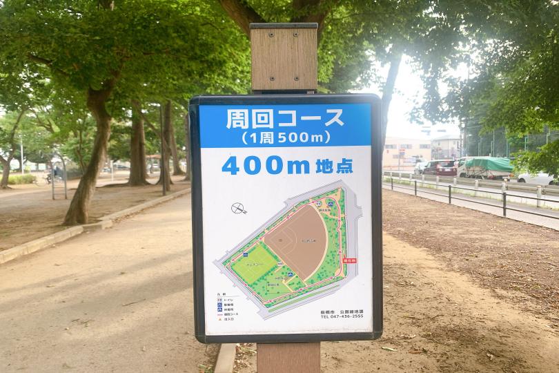 周回コースの案内看板の写真